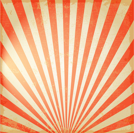 New Vintage Red rijzende zon of de zon straal, zon barstte retro achtergrond ontwerp Stockfoto - 39594581