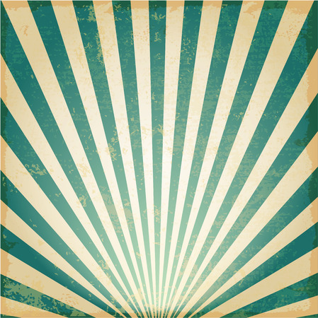 New Vintage blue rising sun or sun ray,sun burst retro background design Ilustração