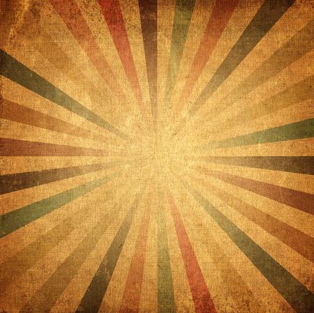 ビンテージ バック グラウンド上昇の太陽や太陽光線カラフルな太陽バーストのレトロな紙の背景