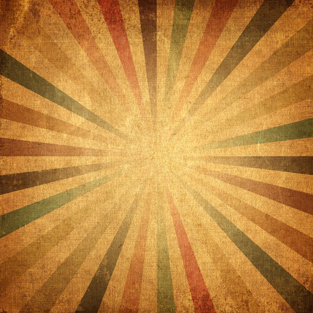 Vintage background colorful rising sun or sun ray, sun burst retro paper background