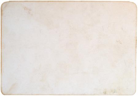 Old photo paper isolate Standard-Bild
