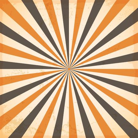 벡터 해피 할로윈, 태양 또는 태양 광선 떠오르는 태양 복고풍 디자인 버스트
