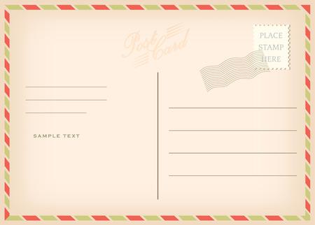 airmail: Vintage poscard, vector design