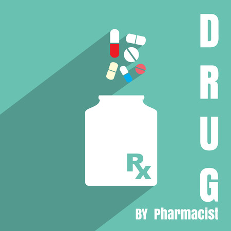 rx: New Rx midical medicine sign vector. Illustration