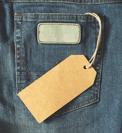 tag: Empty brown paper tag of jean. effect