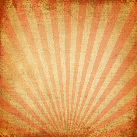 Vintage background Red rising sun or sun ray,sun burst retro paper be crumpled