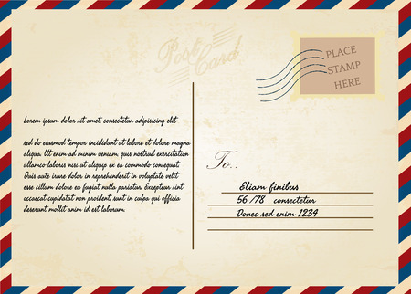 Vintage postcard, Vector Illustration eps10 design Illustration