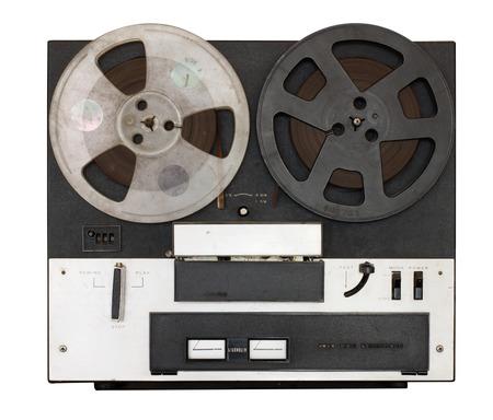 entertainment equipment: Vintage movie player isolate. Retro technology Stock Photo