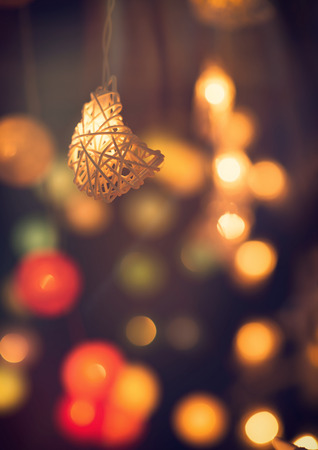 Abstract burred bokeh of ramadan background, vintage filter effect