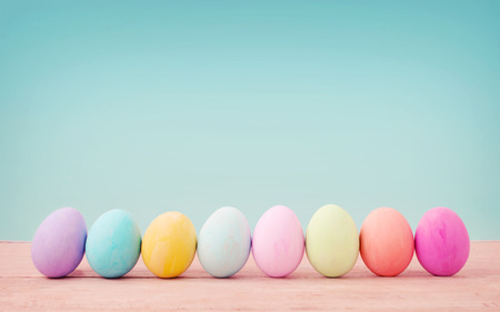 color: Vintage pastel color of Easter eggs.