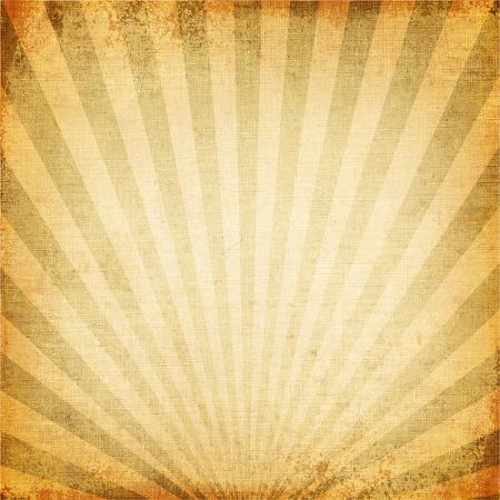 grunge: Vintage background of sun beam, old canvas texture