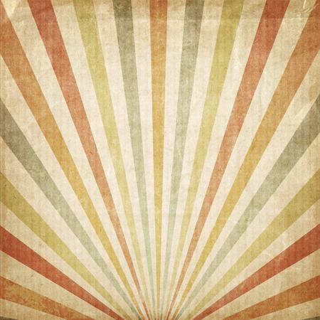 sol naciente: Fondo de la vendimia Multicolor sol naciente o rayo de sol, sol estalló papel retro ser arrugado