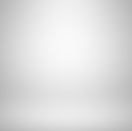 gradient: Empty clear white studio room background - abstract gray gradient Stock Photo