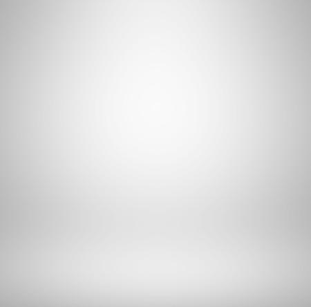 Empty clear white studio room background - abstract gray gradient Archivio Fotografico