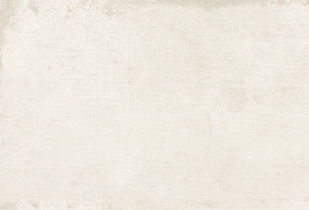 Vintage white canvas texture, book cover background Imagens