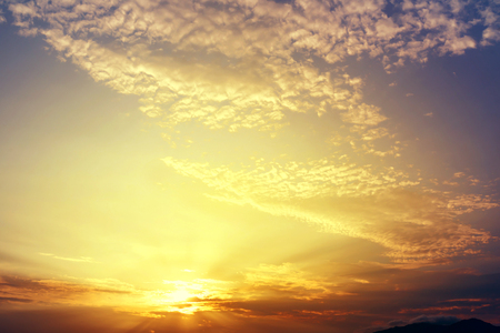 Beautiful sky sunset in twilight time