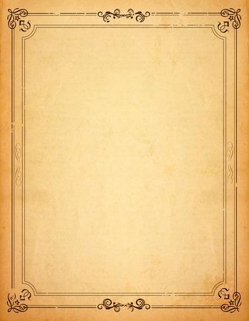古い紙柄ビンテージ フレーム - あなたの設計の場合は空白