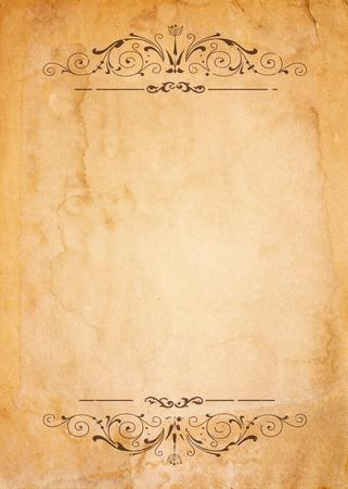 Oud document met patroon vintage frame - leeg voor je ontwerp