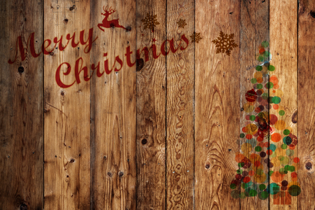 xmas background: Merry christmas (xmas) background. Old pine wood texture - vintage background Stock Photo