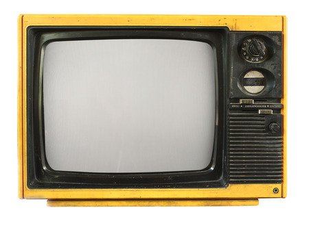 vintage television: Vintage television - old TV isolate on white, retro technology