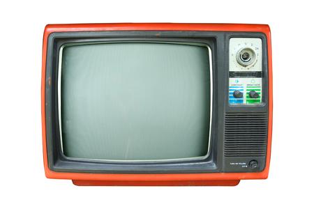 retro tv: Retro television - Old vintage TV isolate on white, retro technology. Stock Photo