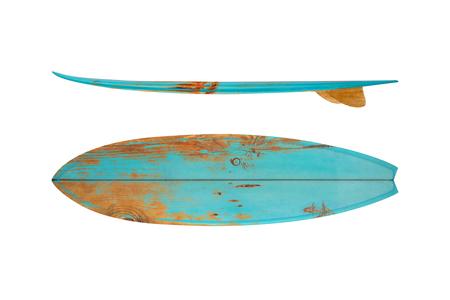 tavola da surf epoca isolato su bianco - stili retrò anni '60