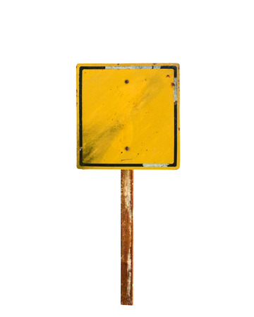 street sign: Old and grunge vintage metal sign isolated on white.