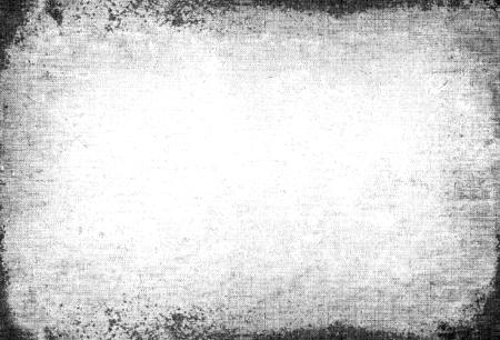 Résumé sale ou le vieillissement de cadre. La poussière de particules et le grain de poussière texture sur fond blanc, la saleté superposition ou de l'utilisation de l'effet d'écran pour le fond grunge et le style vintage.