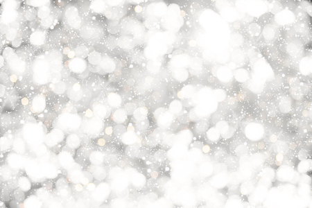 christmas backdrop: Christmas background - white glitter christmas abstract snow with blur bokeh light background.