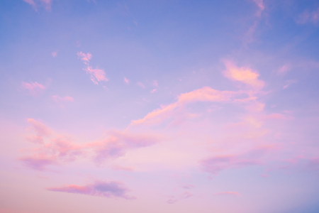 Nature background of beautiful sky landscape at sunset - serenity and rose quartz color filter