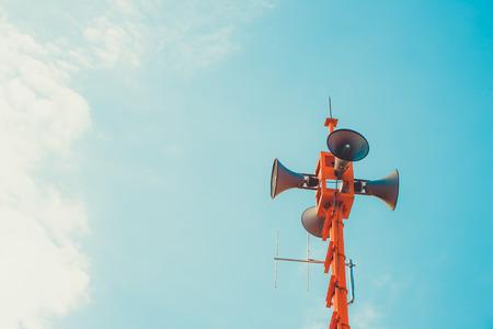 ヴィンテージホーンスピーカー - 広報記号とシンボル。ヴィンテージカラートーン効果