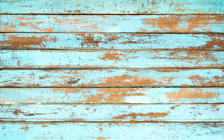 Vintage beach wood background - Old weathered wooden plank painted in blue color. Archivio Fotografico