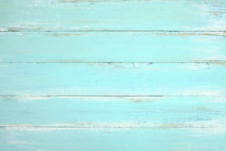 Vintage beach wood background - Old weathered wooden plank painted in blue color. Stock Photo