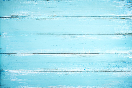 Vintage beach wood background - Old weathered wooden plank painted in blue color. Banque d'images