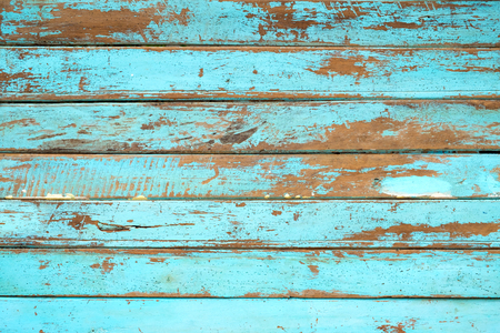 ヴィンテージビーチの木の背景 - 青い色で塗装された古い風化木製の板。