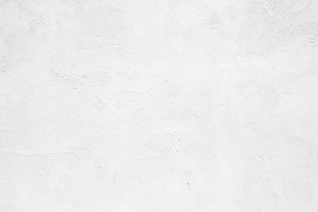 Empty white concrete wall, clean white texture background surface. Banco de Imagens