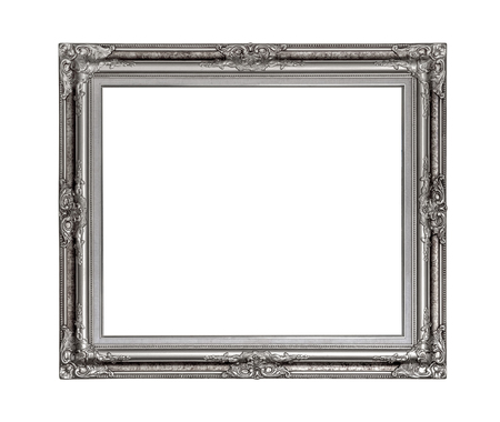 Vintage picture frame isolated on white with clipping path for object. Stok Fotoğraf