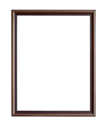 Vintage picture frame isolated on white with clipping path for object. Reklamní fotografie