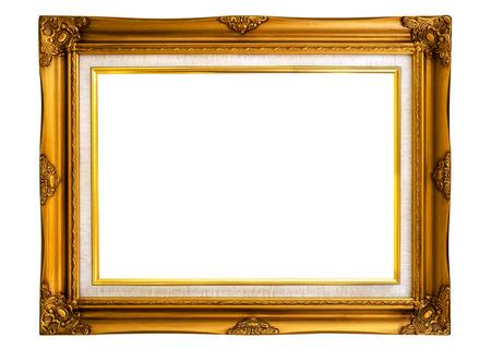 Cornice d'epoca isolata su bianco con tracciato di ritaglio per oggetto.