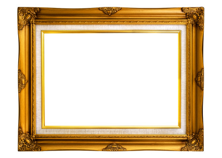 Vintage picture frame isolated on white with clipping path for object. 写真素材