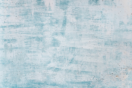 Blank grunge concrete wall blue sea color paint for texture. vintage background Banco de Imagens