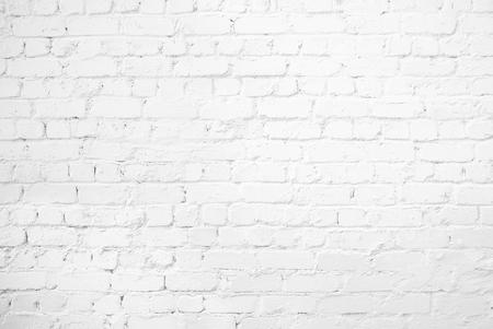 Pattern of white brick wall background