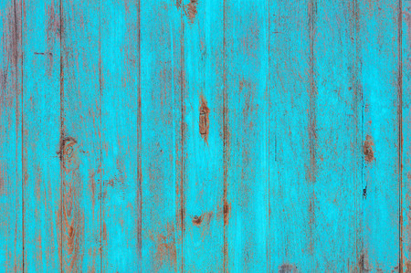 Vintage beach wood background - Old weathered wooden plank painted in turquoise blue pastel color. Stockfoto