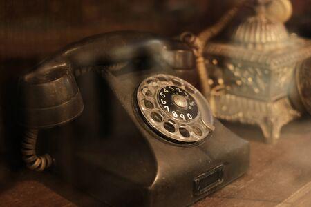 Oggetti da collezione e decorazione - Ricevitore telefonico classico e antico. Archivio Fotografico