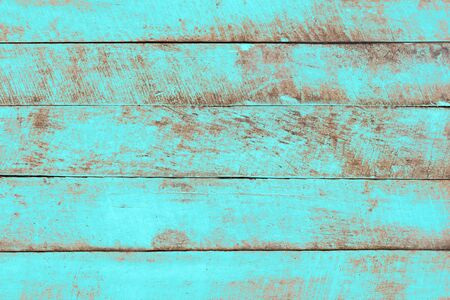 Vintage beach wood background - Old weathered wooden plank painted in turquoise blue pastel color. Reklamní fotografie