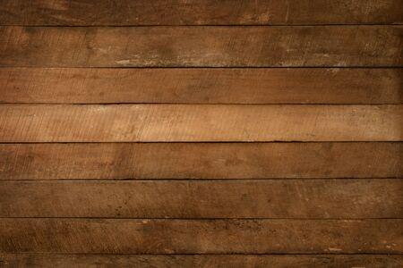 Old brown wooden plank . dark wood background. Reklamní fotografie