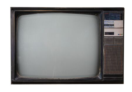 Retro television isolated on white with clipping path for object. retro technology