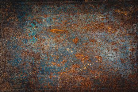 Abstract rusty grain on metal