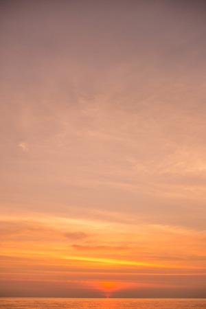 The large blue sky and seascape. photo