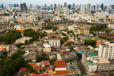 birdseye view: Somewhere in Bangkok with the birds-eye view. Editorial